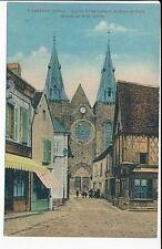 CPA LEVROUX ( 36 ) Eglise St Sylvain et maison de bois datant du XIII siècle