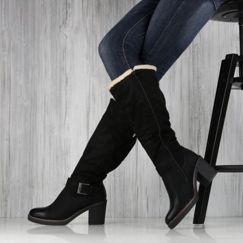 Damen Winterstiefel Warm Gefütterte Stiefel Winter Boots Kunstfell 892305 Top