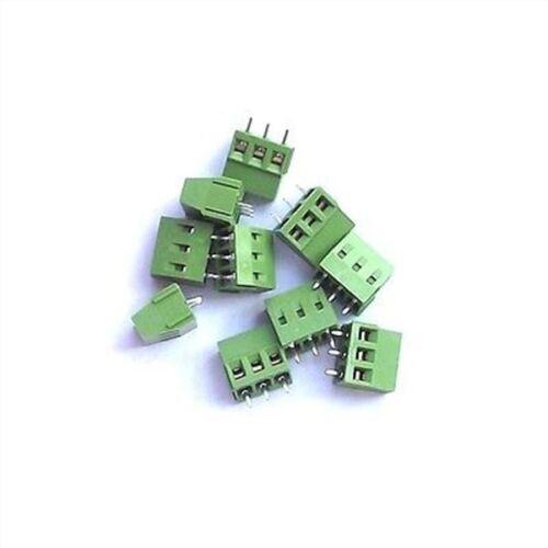 100Pcs Terminal Block Connector Pitch 5Mm 300V 10A 3 Pin Screw New Ic xi