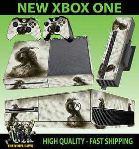 Constructif Xbox One Ghost Corbeau Dark Gothic Reaper Présage Console Autocollant Peau & 2 Pad Skins-afficher Le Titre D'origine
