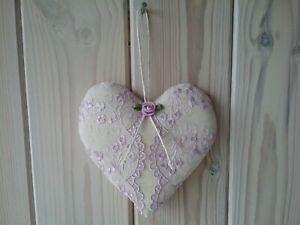 13th 39th Anniversaire De Mariage Lilas Dentelle Love Coeur Souvenir Fait Main Cadeau-afficher Le Titre D'origine