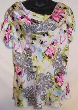 Sunny Leigh Blouse Top Size Extra Large XL Pink Flower Womens R1660
