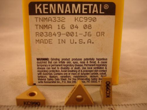 1371 TNMA 322 KC990 KENNAMETAL Carbide Inserts 10pcs