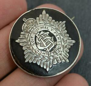 WW1-Solid-Silver-and-Faux-Tortoiseshell-Military-Brooch
