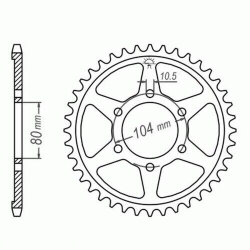 92-03 Kettenkit DID SUPER verstärkt endlos Honda CB 750 Seven Fifty RC42