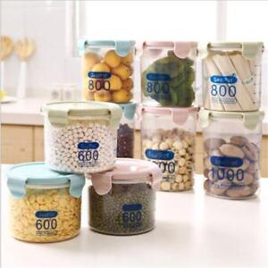 Glass Jar Food Storage Bottles Sealed Cans Bamboo Lid Large Capacity Glass Jar Z