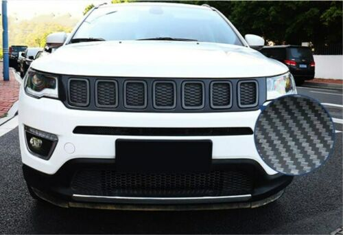 For Jeep Compass 2017-2019 Front Bumper Upper Radiator Grille Mesh Cover Trim