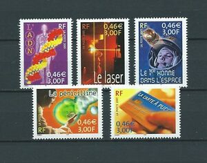 FRANCE-2001-YT-3422-a-3426-TIMBRES-NEUFS-LUXE