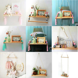 h ngeregal holz kinderzimmer deko wandregal b cherregal h ngende regal halterung ebay. Black Bedroom Furniture Sets. Home Design Ideas