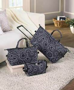 3-PC-Overnight-Suitcase-Luggage-Set-on-Wheels-Travel-Duffel-Bag-Carry-Tote-Set