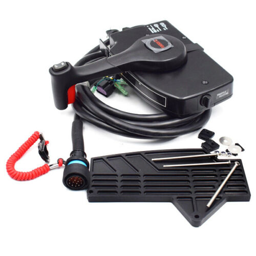 14 Pin Mercury Outboard Engine Right Side Mount Remote Control Box w//15 ft Cable