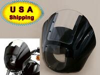 Black For Harley Davidson Quarter Fairing Kit With P/n 57070-98 Xl Fxr Dyna Usa
