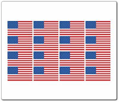 200pcs American Flag Stickers 2 x 1.2 USA Patriotic Stickers