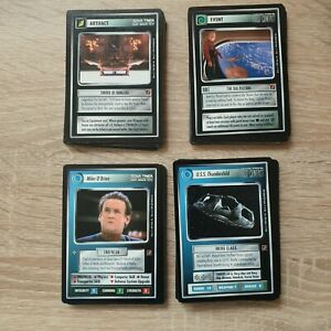 Star-Trek-CCG-BoG-Blaze-of-Glory-Complete-Set-130-cards-No-Foils