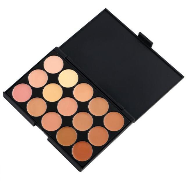 15-Color Concealer Eyeshadow Contour Palette Face Makeup Kit 2 styles