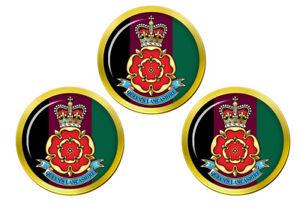 Queen-039-s-Lancashire-Regiment-Armee-Britannique-Marqueurs-de-Balles-de-Golf