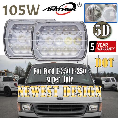 2x 105W CREE LED Headlight kit f// Ford E-350 Super Duty F-250 Super Duty 2002-12