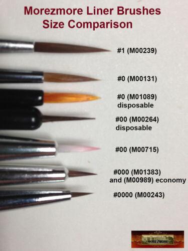 M00243x3 MOREZMORE 3 Precision #0000 Extra Fine Micro Liner Brush Doll Face