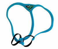 Mens String Thong Spider Enhancer Double Ring Breezy Blue Made Usa 1 Day Ship