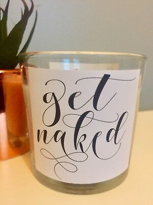 Grey Wax Vanilla Scented Candle Jar Home Decor Novelty Bathroom Get Naked Quote