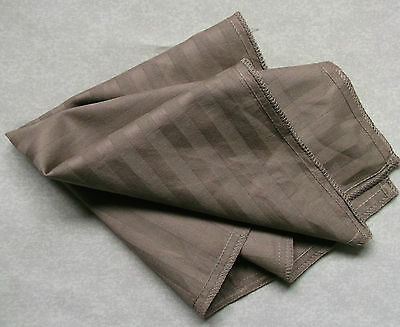 Ernst Hankie Cotton Pocket Square Handkerchief Mens Hanky Milk Chocolate Striped