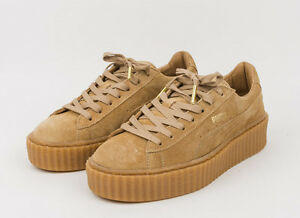 PUMA RIHANNA OATMEAL TAN CREEPERS US UK 3 4 5 6 7 8 FENTY ...