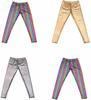 Leggings Da Uomo Con Piede Sport Pantaloni Elastici Stretch SHINY LUCIDO Stretto Pantaloni