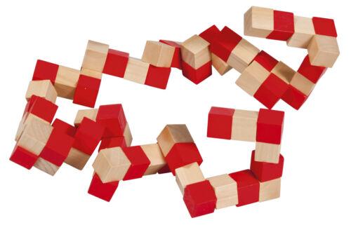 Bambus-Schlangenwürfel groß natur//rot