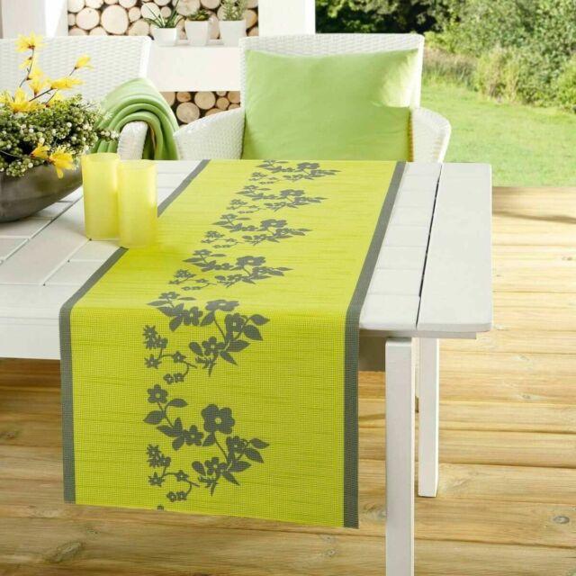 Tischläufer, Tischrolle,  Apfelgrün, 40x150cm, Borkum Ranke,  Peyer Syntex,