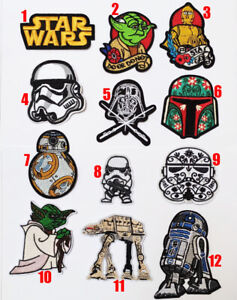 Star Wars Patches Movie Logo Transfer Iron On Sew On Patch Badge