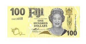 2007 FIJI $10 Dollars Pack Fresh UNC Final QEII Series P-111a Narube