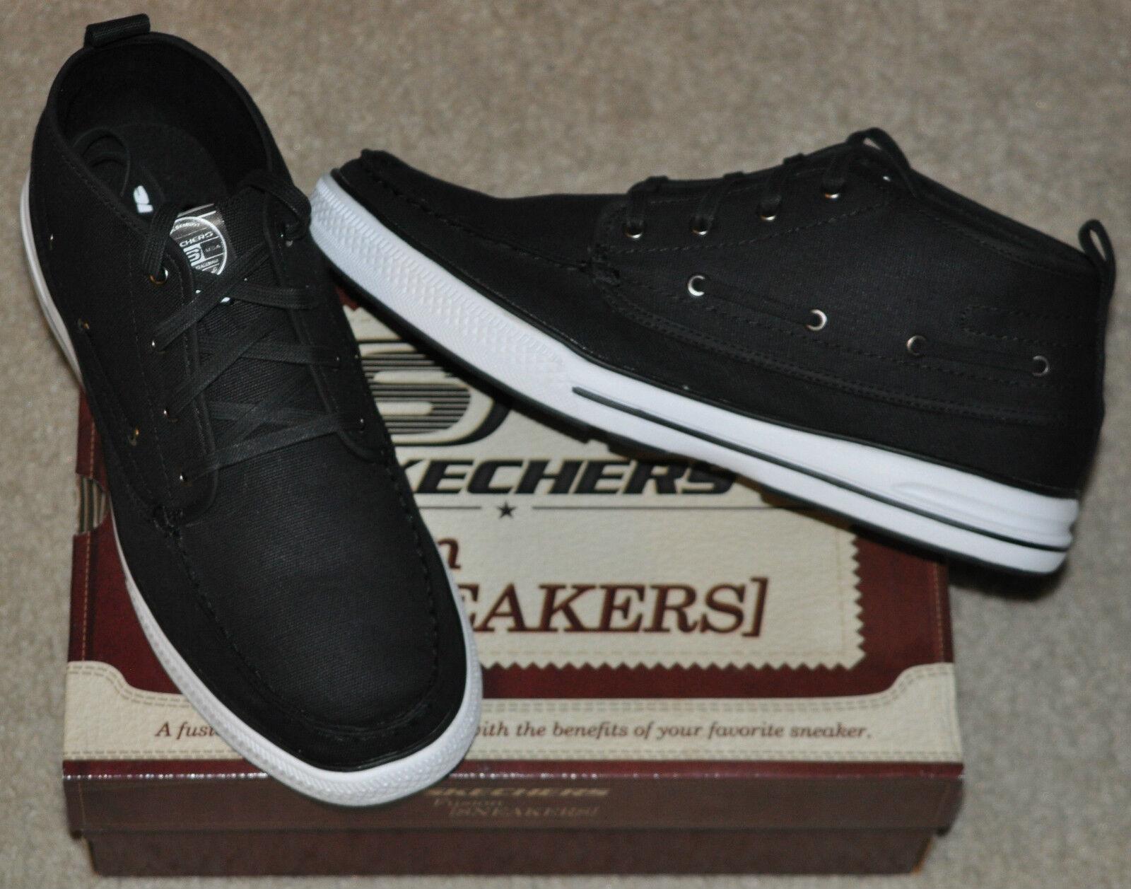 Skechers Arcade Score Hi Top Boat shoes   Sneakers Sz 12 Black Brand New in Box