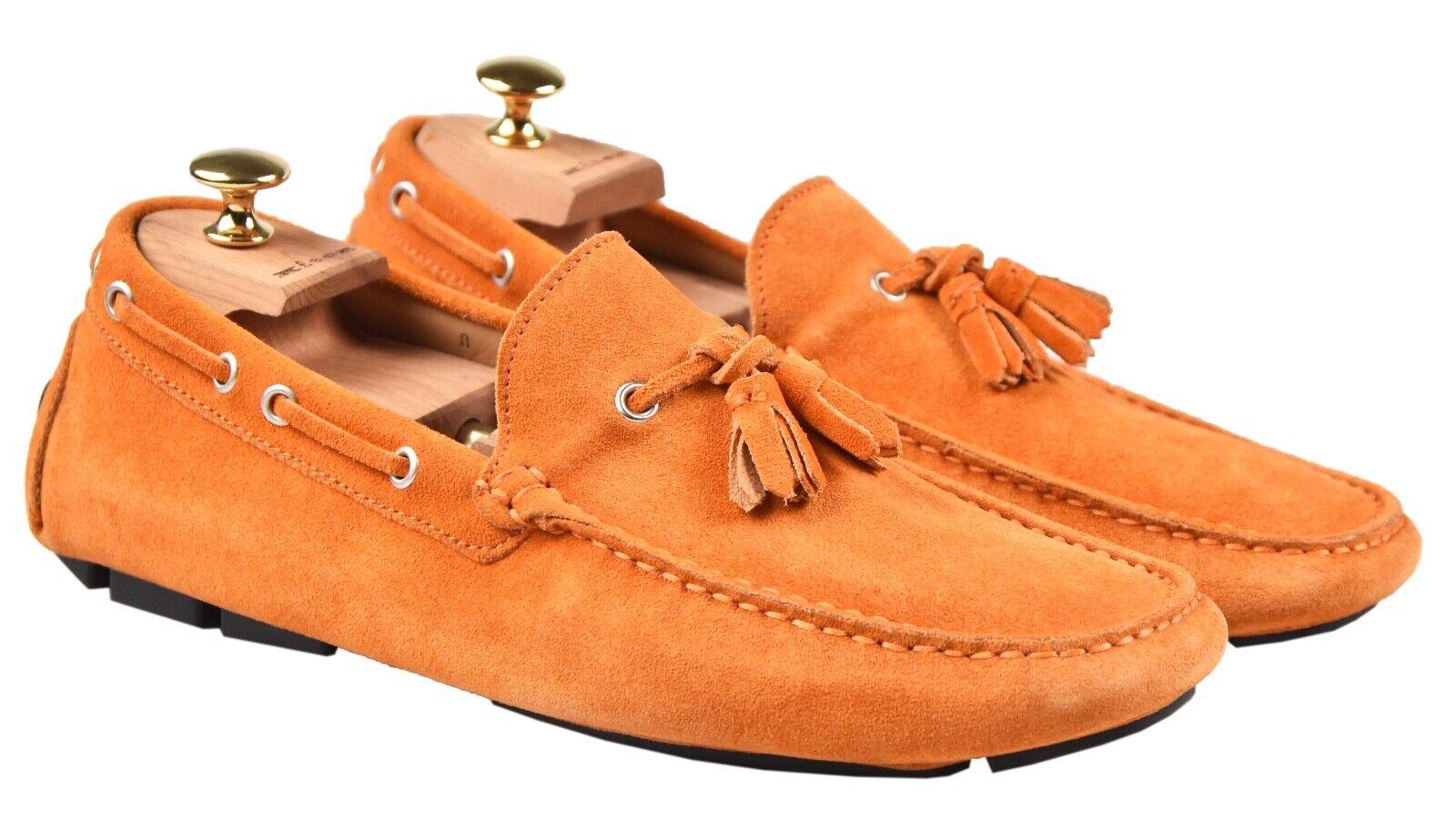 NEW KITON LOAFERS scarpe 100% LEATHER SZ 9 US 42 EU 19O129