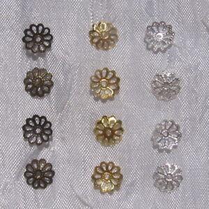 50-coupelles-CHOIX-intercalaires-filigranes-8mm-perle-metal-dore-argente-bronze