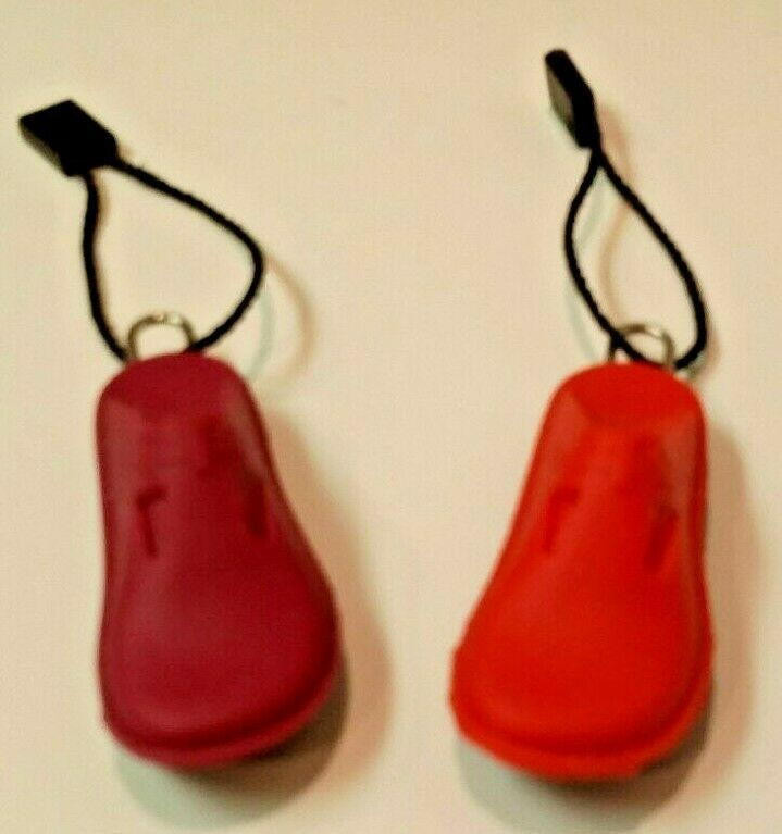 NEW! Alegria Mini Rubber Shoes for Keychains Key Chains - Fuchsia and Purple