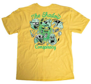 f4b0b5a3 Details about SHADOW CONSPIRACY SHADES s/s T SHIRT BMX SUBROSA VANS YELLOW  NEW