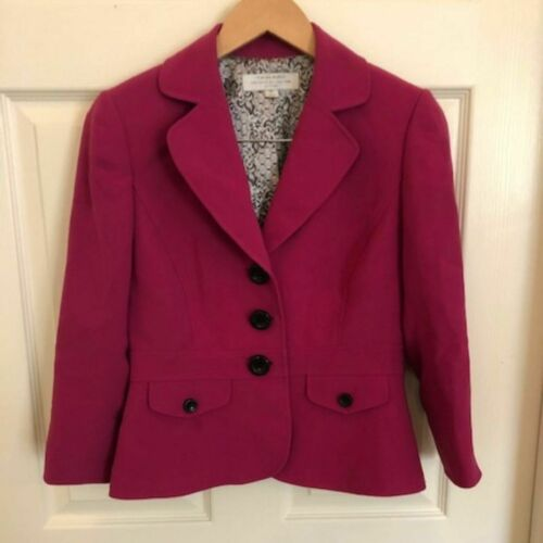 Tahari Hot Pink Blazer 4P