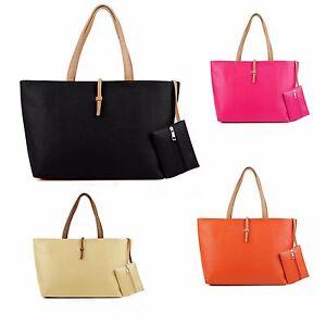 Womens-Designer-Large-FauxLeather-Style-Summer-Tote-Shoulder-Bag-IN-Bag-Vincenza