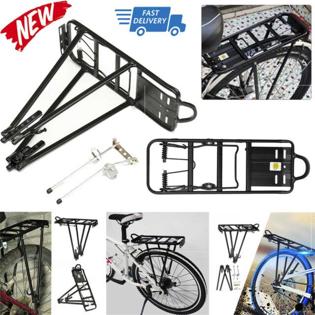 Back Rear Rack Alloy Bike Bicycle Seat Post Frame Carrier Holder Cargo Racks