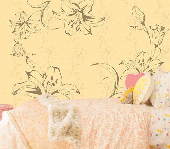 3D Gemalte Blaumen Kunst 888 Tapete Wandgemälde Tapeten Bild Familie DE Lemon