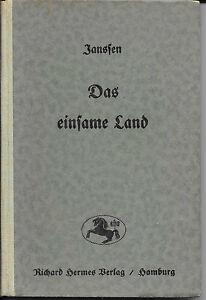 Bücher Das Einsame Land Geschichten Aus Den Nordseemarschen Albrecht Janssen 1924 Modische Muster
