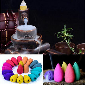9-Styles-Natural-Aroma-Bullet-Tower-Incense-Fragrance-Buddhism-Backflow-Cone