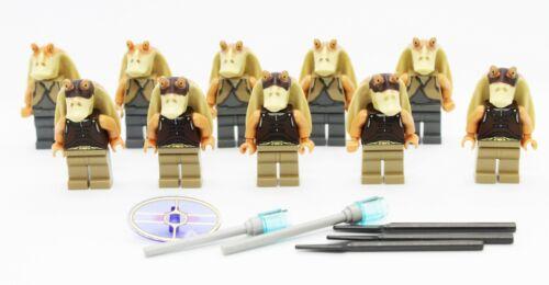 Lego Jar Jar Binks /& Gungan Soldiers Warrior Star Wars Minifigures Lot of 10