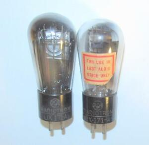 Matched Pair (Gm) RCA Globe 71A amplifier tubes.  TV-7 test @ NOS specs.