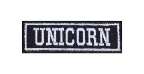 Unicorn Biker Patch ricamate moto MC Rocker STAFFA immagine Heavy BADGE tonaca