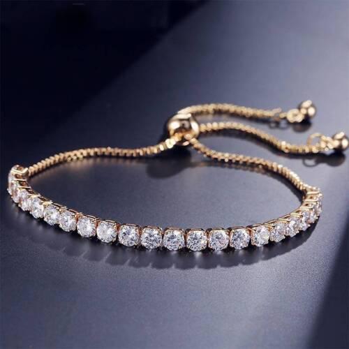 Réglable demoiselle d/'honneur Tennis Bracelet Femmes Zircone Cubique Lien Chaîne Bijoux