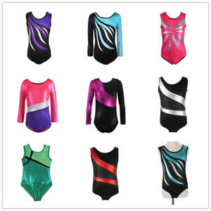 4-14-Kids-Girl-Ballet-Dancewear-Gymnastics-Leotards-Bodysuits-Skating-Costumes