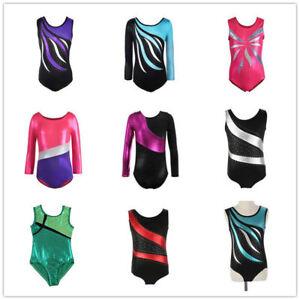 4-14-Kids-Girl-Ballet-Dancewear-Gymnastics-Leotards-Bodysuits-Skating-Costumes