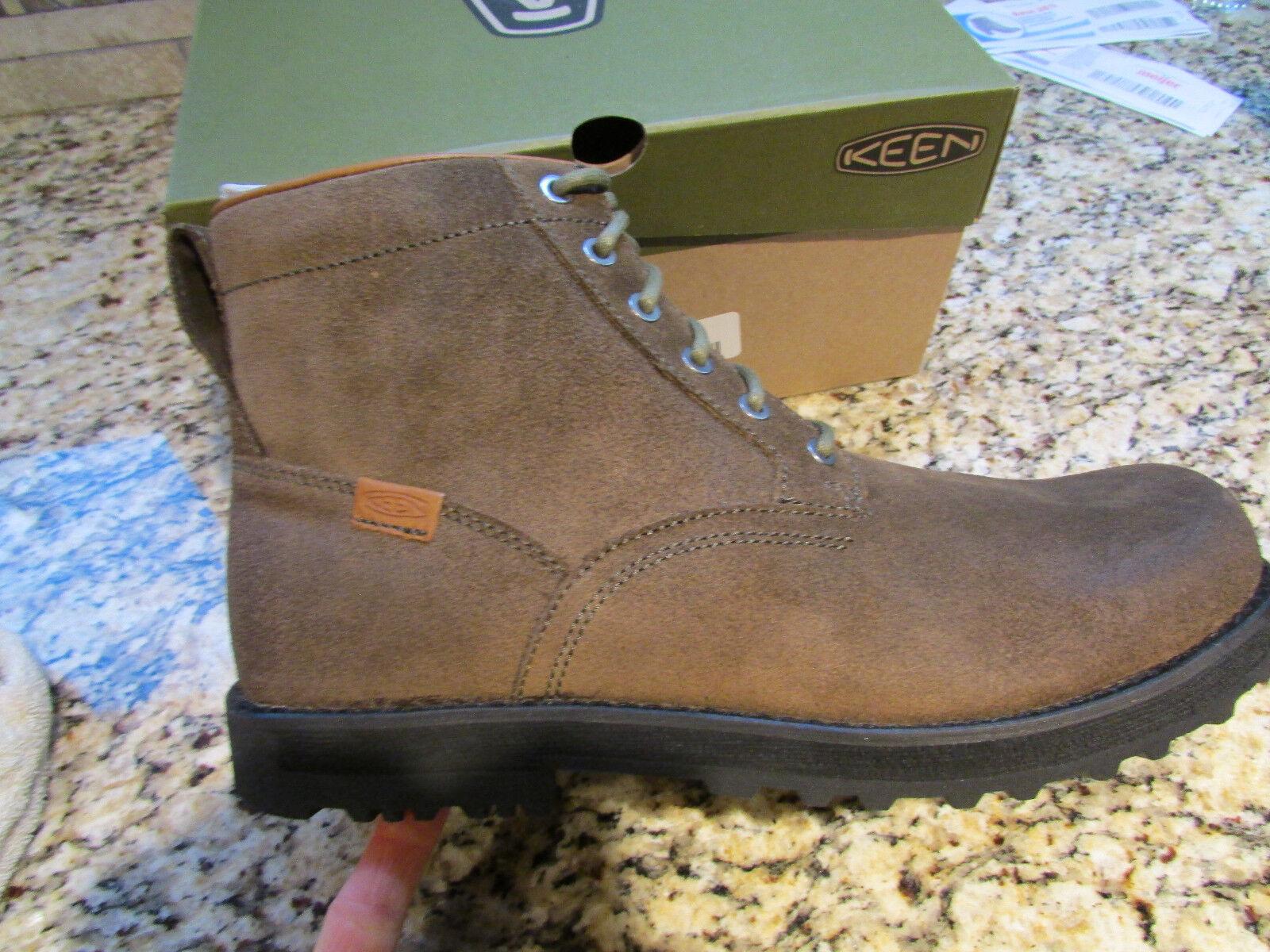 Nuevas botas De Gamuza Keen el 59 SHITAKE botas al tobillo para Hombre 12 1013793 Marrón claro