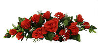 Red Swag Roses Silk Wedding Flowers Centerpieces Decorations Unity Bridal